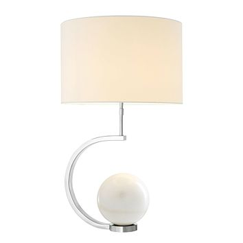 White Marble Table Lamp | Eichholtz Luigi