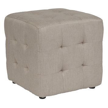 Avendale Tufted Upholstered Ottoman Pouf