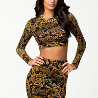 Gold Print Twin Set