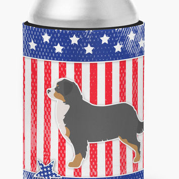 USA Patriotic Bernese Mountain Dog Can or Bottle Hugger BB3319CC