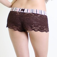 FOXERS - Brown Lace Boxers