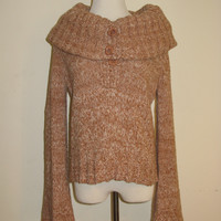 BCBGeneration Cable Knit Oversized Collar Sweater L
