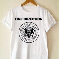 Custom T Shirt Hot One Direction Ramones Funny Shirt  for t shirt Mens and T shirt Girl Size S-XXL by JumatanBro