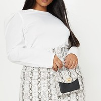 Plus White Puff Sleeve Top