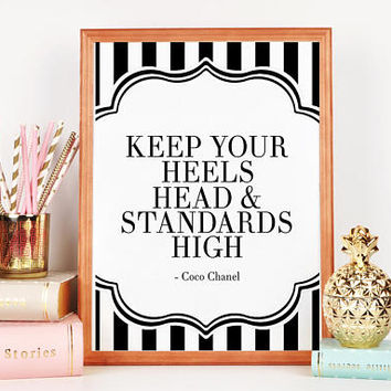 COCO CHANEL INSPIRED,Chanel Wall Art,Chanel Decor,Fashion Print,Quote Posters,Fashionista,Girls Room Decor,Girly Poster,Teens Girls,Modern