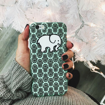Mint Hamsa Phone Case