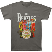 Beatles Men's  Sgt. Pepper T-shirt Charcoal Rockabilia