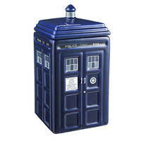 Doctor Who Cookie Jar in food containers at Lakeland
