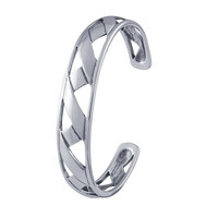 Sterling Silver Origami Ribbon Cuff  Bracelet  Custom Made in the USA