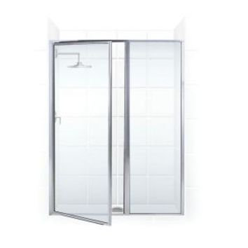 Coastal Shower Doors, Legend Series 40 in. x 69 in. Framed Hinge Swing Shower Door with Inline Panel in Chrome with Clear Glass, L24IL16.69B-C at The Home Depot - Mobile