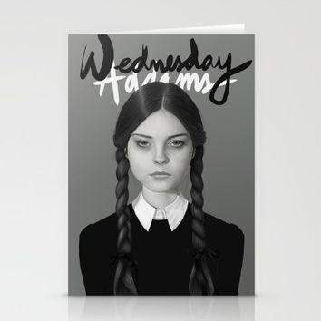 Wednesday Addams Stationery Cards by Albert Lee