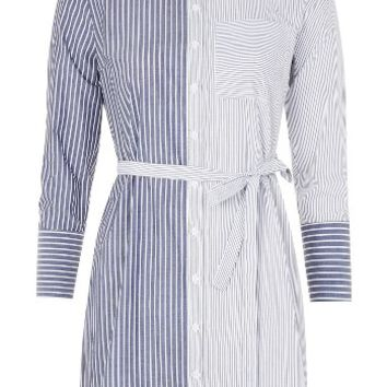 Topshop Mix Stripe Wrap Back Shirtdress | Nordstrom