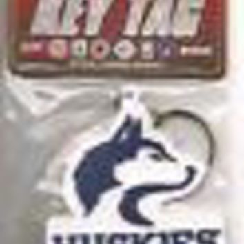 New UW Washington Huskies Logo Laser Cut Rubber Key Tag Keychain