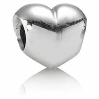 New Authentic Pandora Charm Sterling Silver 925 Puffed Heart Bead