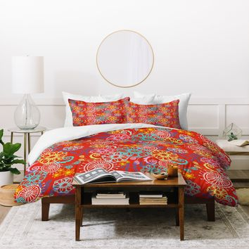 Stephanie Corfee Cart Wheels Duvet Cover