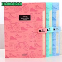 High Quality Waterproof Book A4 Paper File Folder Bag Accordion Style Design Document Rectangle Office Home School Color Random