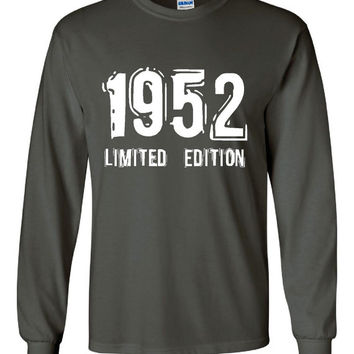 1952 Limited Edition Bday Long Sleeve Unisex T Shirt 61st Bday Tee Great Birthday Gift Long Sleeve Happy 61st tee Shirt