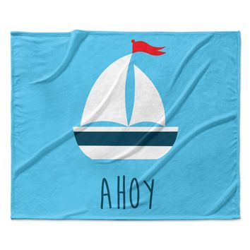 Nautical Sail Ahoy Under The Sea Baby Childrens Fleece Blanket