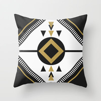 North / Black Throw Pillow by Elisabeth Fredriksson