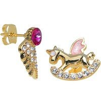 Angelic Rocking Horse Mixed Earring Set