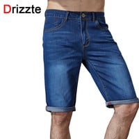 Men Casual Stretch Blue Denim Shorts Men Jeans Summer Jeans Men DENIM Shorts