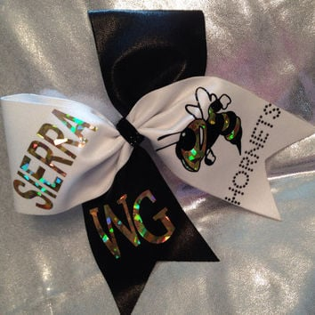 School cheer bow choose colors personalize