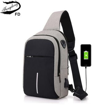 Branded Look One Shoulder Bag With ChargingFacility