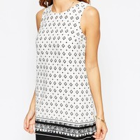 ASOS PETITE Shift Dress in Border Print