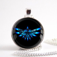 Legend Of Zelda Triforce Necklace Round Dome Pendant