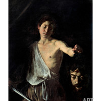 David with the Head of Goliath Art Print by Caravaggio at Art.com