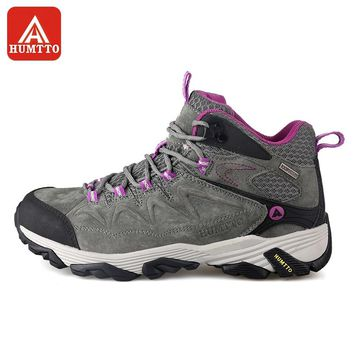 HUMTTO Hiking Shoes Women Winter Outdoor Sports Climbing Shoes Non - slip Warm Lace-up Trekking Sneakers