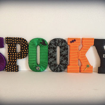 Spooky Halloween Decor-Halloween Decorative Letter Set by Tightly Wound Designs