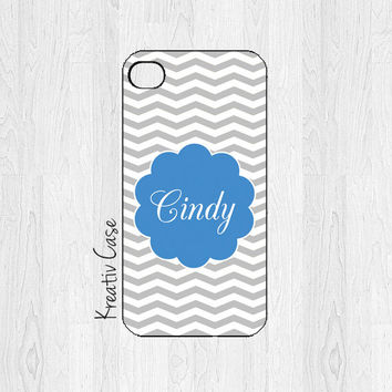 iPhone 5 Case, iPhone 5S Case - Chevron / Polkadots - Personalized Phone Covers - K070