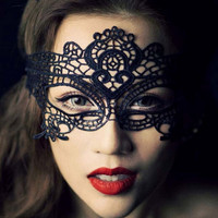 2016 New Girls Women Sexy Ball Lace Mask Catwoman Masquerade Dancing Party Eye Mask Cat Halloween Fancy Dress Costume
