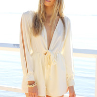 SABO SKIRT  Bone Bow Playsuit - $58.00