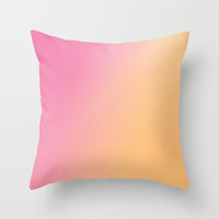 Pink Orange Ombre Pillow Cover - Pink to Orange Pillow Cover - Throw Pillow Cover - Includes Pillow Insert - Made to Order