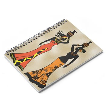 Village  Queen Headwrap Spiral Notebook - Ruled Line