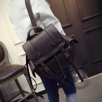 Vintage Backpack Summer Korean Casual With Pocket Travel Bags [6582315207]