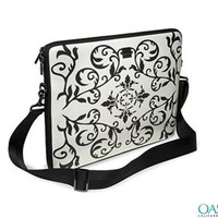 Black and White Ornamental laptop Bag - Laptop Bags Suppliers