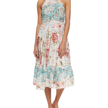 Zimmermann Georgia Floral-Print Sundress Coverup