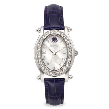 Croton Womens Stainless steel September Birthstone Mother of Pearl Watch
