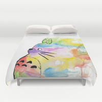 My Rainbow Totoro Duvet Cover by Alisha Murray | Society6