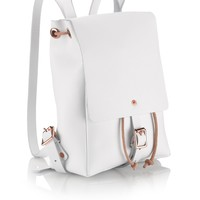 White Alfie Two Mini Backpack | Alfie Douglas | Avenue32