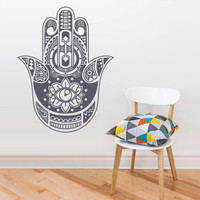 Wall Decal Vinyl Sticker Decals Hamsa Hand Eye Indian Buddha Ganesh Fatima Namaste (z2631)