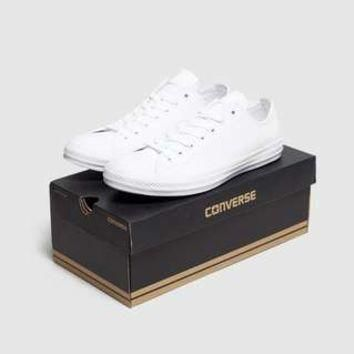 converse all star ox leather mono size