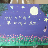Personalized Art on Canvas for Girls, Theme Room Decor, CHOOSE YOUR SIZE