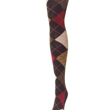 Funky Argyle Sweatere Tights