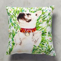 Flower Pup Pillow by Anthropologie