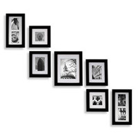 Create-a-Gallery Portrait 7-Piece Wood Frame Set - Black