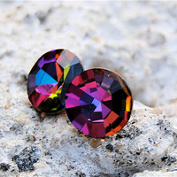 Azalea Vintage Swarovski Crystal Stud Earrings